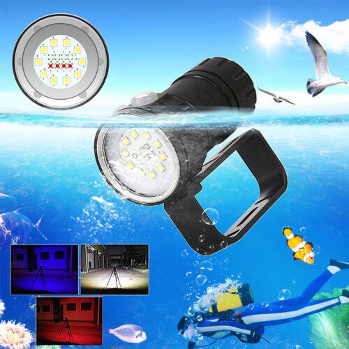 14//18//23LED 50000LM 3 couleurs La photographie Vidéo Plongée Lampe de poche Lamp