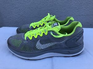 9a1ffed148a NIKE LunarGlide 5 Gray Black Green Men s Size US 10 Running Shoes ...
