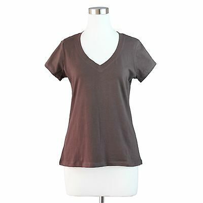 Womens Plus Size Basic V Neck T-Shirt Short Sleeve Top Stretch Fitted Solid 1~3x