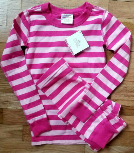NWT Hanna Andersson  ORGANIC PINK STRIPED PAJAMAS 110 5 and 120 6//7 SISTERS!!