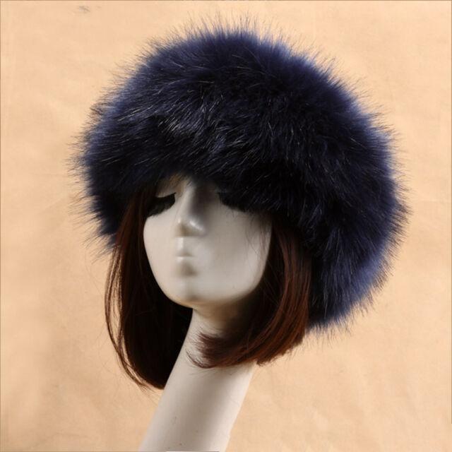 Luxury Faux Fur Women Ladies Ski Headband Ear Warmer One Size Fit All  Washable