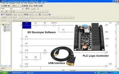 PLC Ladder Logic Programming Automation /& Training Course Software GX-DEV-FX USB