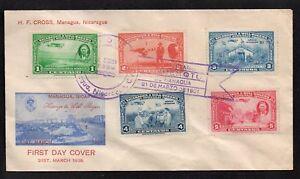 Süd- & Mittelamerika Nicaragua 1939 Will Rogers Auf Fdc Nicaragua