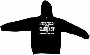Is Education But Important Importanter Clarinet Sweatshirt Hoodie wZZTqOd