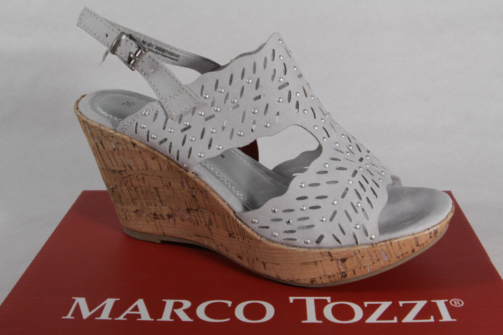 Marco Marco Marco Tozzi Ladies Sandals Sneakers Real Leather Grey NEW ef2f30