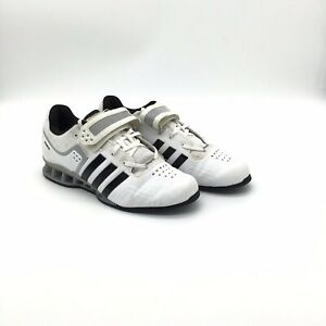 Men-s-Adidas-Adipower-Weightlifting-Shoes-White-Size-9-1-2