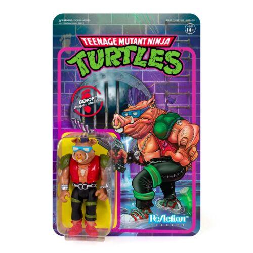 "SUPER7 Teenage Mutant Ninja Turtles Bebop ReAction Figure 3.75/"" NEW"