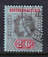 NORTHERN NIGERIA 1910-11 2/6d BLACK & RED SG 37 FINE USED.