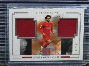 2019-20 Impeccable Mohamed Salah Dual Match Worn Jersey Relic #03/25 J87