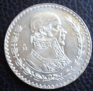 1959 Mexico $1 Peso Silver Brilliant Uncirculated.Please Se The Coin