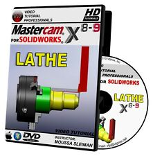 MASTERCAM X8-X9 FOR SOLIDWORKS - LATHE Video Tutorial 720P HD QUALITY Training
