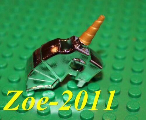 Lego Silver Chrome Horse Battle Helmet NEW!!!