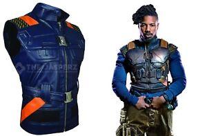 3fda0485e996a8 Image is loading Erik-Killmonger-BLACK-PANTHER-Michael-B-Jordan-Leather-