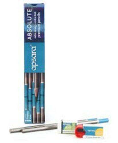 50 Pencils Apsara Absolute Extra Dark Free 5 Sharpeners 5 Erasers Stationery FS
