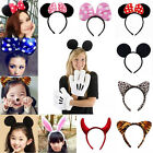 Minnie Mouse Ears Bow Headband Hen Nights Hair Womens Girls Mickey Party Dress