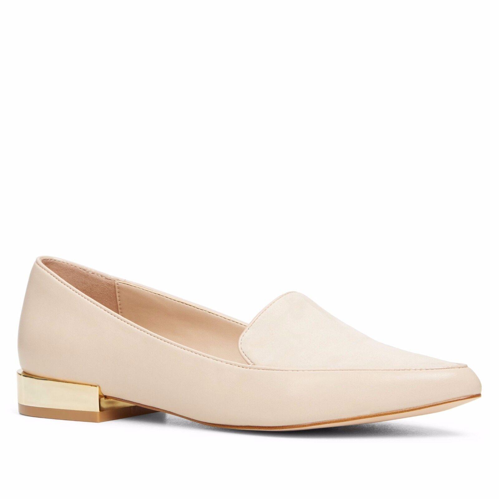 Aldo Abbatha Low Block Heel Court chaussures Beige Nude UK 6 EU 39 LN12 64 SALEs