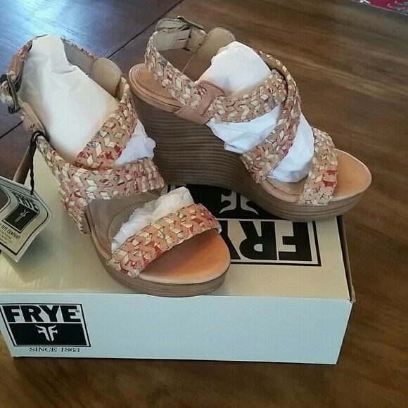 Mr/Ms FRYE Corrina Whipstitch Wedges, Sz 9 Cheap Skilled manufacturing King of the crowd