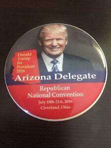 2016-Republican-National-Convention-Arizona-DELEGATE-Button-Donald-Trump-Pence