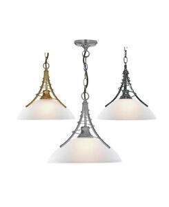 luce-a-sospensione-argento-Ottone-Antico-CROMO-NERO-Lampada-sala-da-pranzo