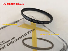 1 (one) UV FILTER 62 mm 62mm Ultraviolet AptTo NIKON TAMRON 70-300mm CANON SIGMA