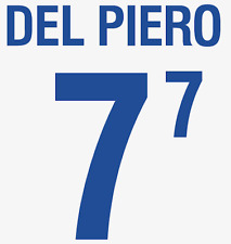 Italy Del Piero Nameset 2002 Shirt Soccer Number Letter Heat Print Football Away