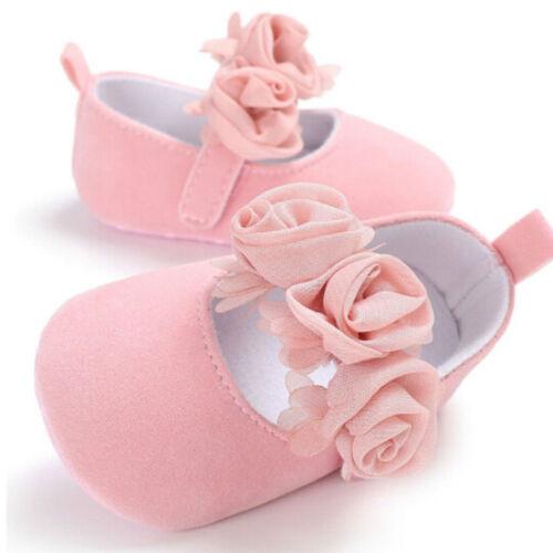 Baby Kleinkind Schuhe Pram Weiche Sohle Prewalker Anti-Rutsch-Sneakers Neu