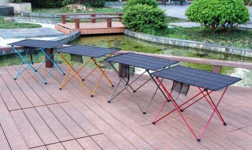 PORTABLE FOLDABLE FOLDING TABLE DESK CAMPING OUTDOOR PICNIC ALUMINIUM