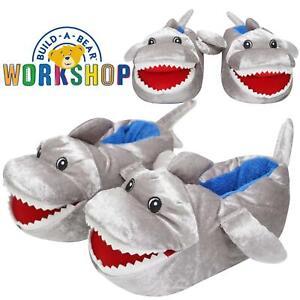 Boys Novelty 3D Plush Slippers Shark