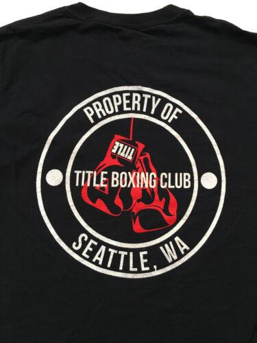 TITLE Boxing Club Seattle WA Black T Shirt Sz.S