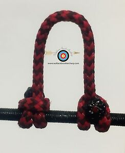 3/' BCY Red /& Black Speckled D Loop Material Bow String Bowstring Archery