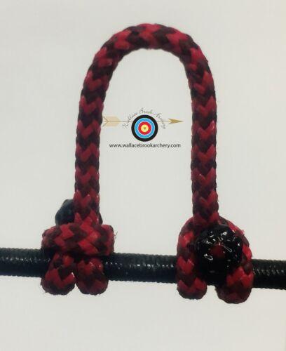 BCY #24 Lot de 2-moucheté rouge//noir tir à l/'arc libération Bow String Boucle D