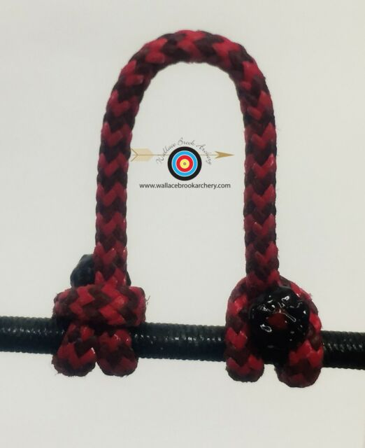 2 Pack Speckled  Red//Black  Archery Release Bow String D Loop BCY #24