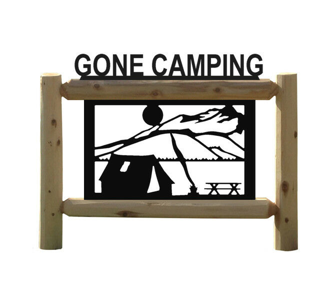 CAMPING LOG SIGN - TENTS - CAMPERS - LOT SIGNS