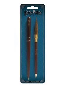 Harry Potter offiziellen Zauberstab /& Besen Stift und Bleistift Set stationäre H