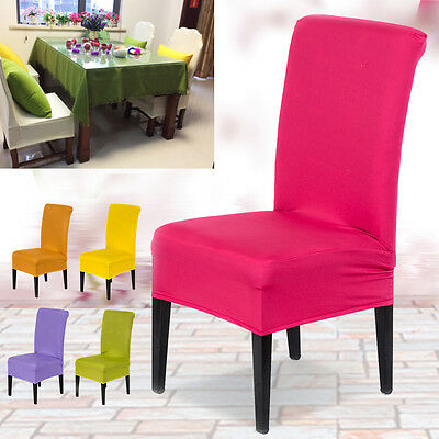 Stretch Spandex Kitchen Bar Restaurant Seat Covers Protector Slipcover Decor
