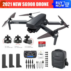 SG908 Drone 5G WiFi 4K Camera GPS FPV 3-Axis Brushless RC Quadcopter 3 Batteries