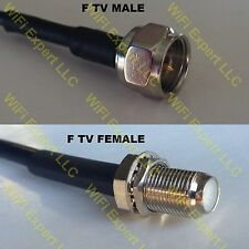 USA-CA RG188  F MALE to F FEMALE Coaxial RF Pigtail Cable