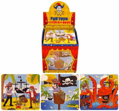 12x Mini Children/'s Boys Kids Pirate Puzzles Party Bag Fillers Toy Gift Birthday