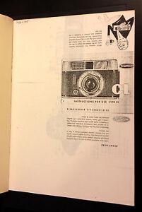Voigtlander Vito CL Instructions  Oldtimer Cameras Publication - Newport, United Kingdom - Voigtlander Vito CL Instructions  Oldtimer Cameras Publication - Newport, United Kingdom