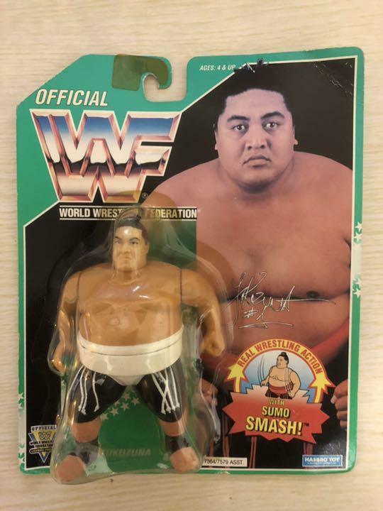 1994 WWF Hasbro Yokozuna Green Card Rare Wrestling Action Figure WWE