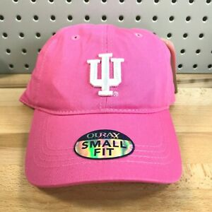 Indiana-University-NCAA-College-Pink-Women-039-s-Hat-Hook-amp-Loop-Small-Fit-Cap-NWT