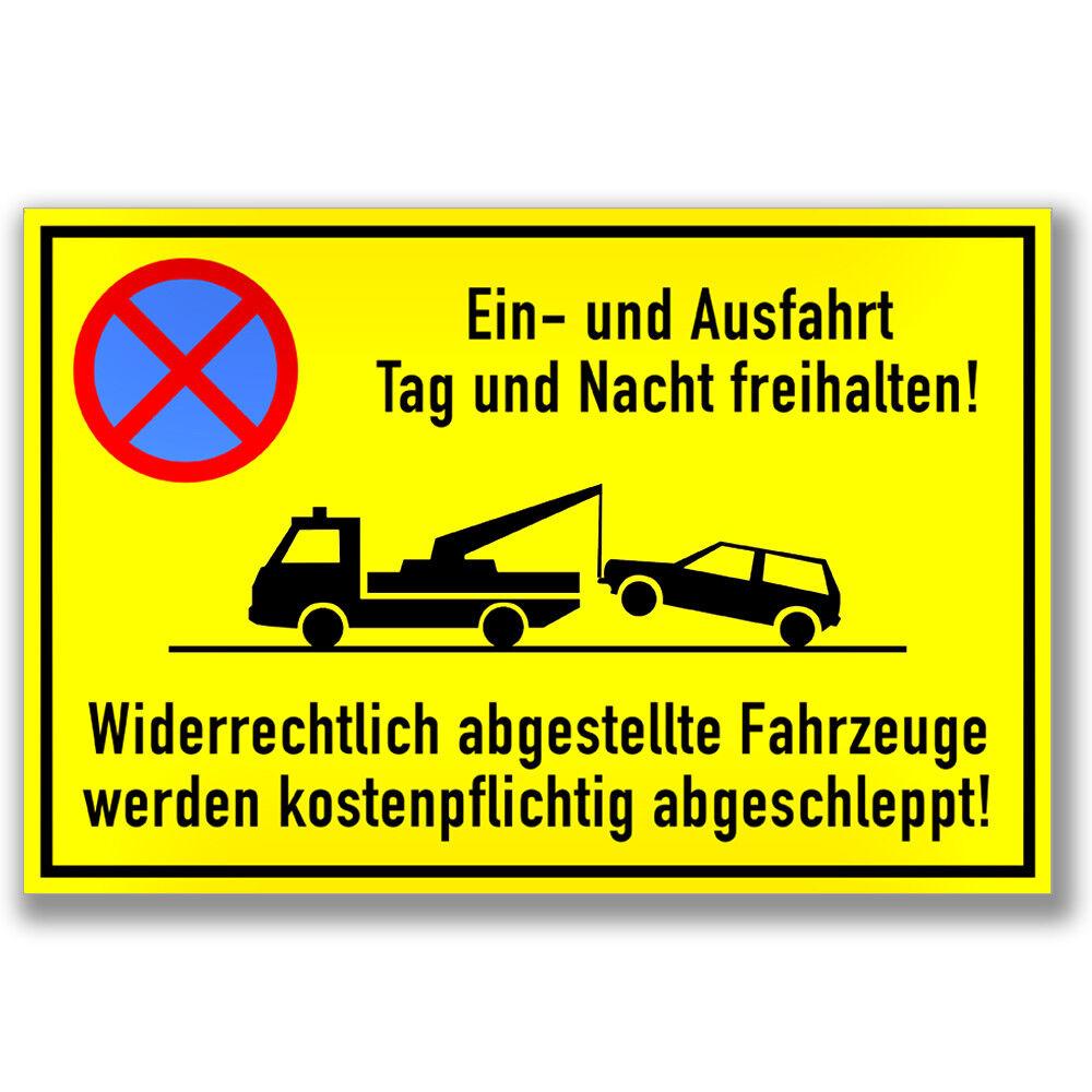 und Ausfahrt freihalten Parken verboten Parkverbot 30x20cm Schild Ein