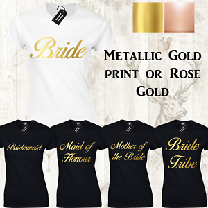 HEN PARTY LADIES T-SHIRT WOMENS HEN DO BRIDE TO BE CUSTOM PERSONALISED WEDDING