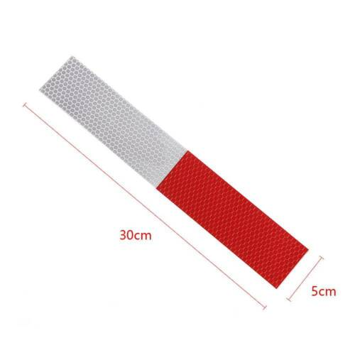 10pcs DIY HOT Night Reflective Strip Tape STICKERS RED-WHITE TRUCK Safe Warning