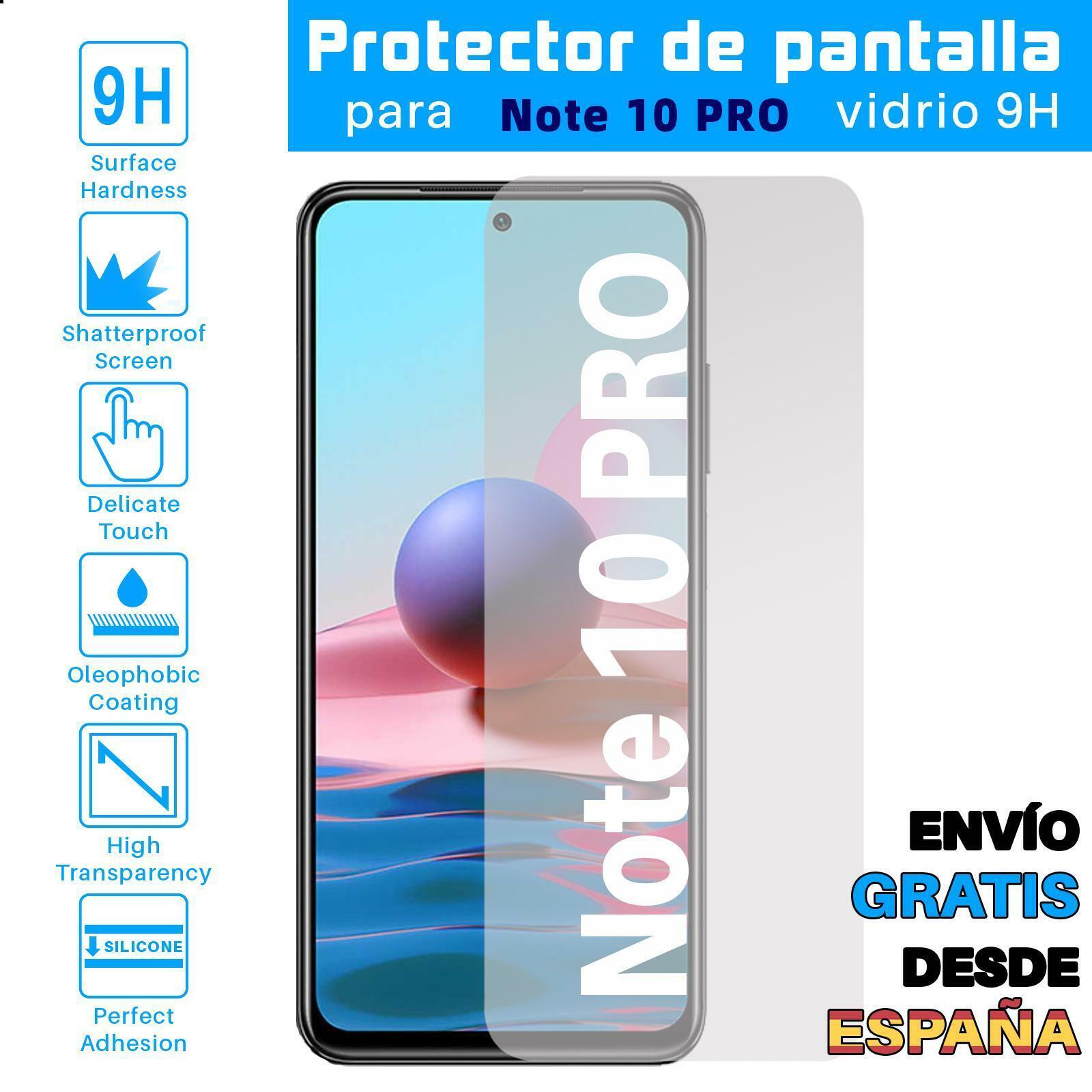 Protector de Pantalla para Xiaomi Redmi Note 10 PRO Cristal Templado Vidrio