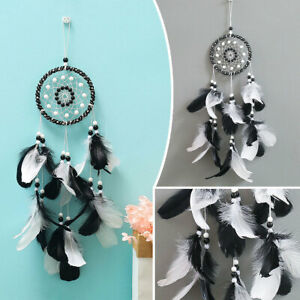 Large-Handmade-Dream-Catcher-Feathers-Craft-Car-Wall-Hanging-Decor-Ornament-AU