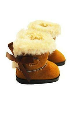 Brown Winter Boots for Wellie Wisher Dolls 14.5 Inch Doll Clothes Glitter Girls