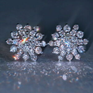 1Ct-Natural-Diamond-14K-White-Gold-Cluster-Earrings-EFFECT-2Ct-EWG120