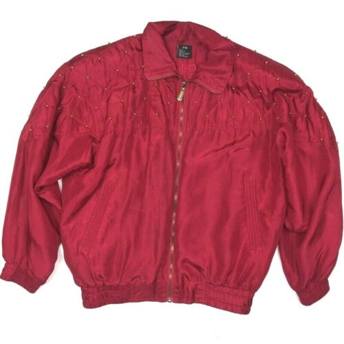 Fuda International Womens PM  Jacket Red Gold Sil… - image 1