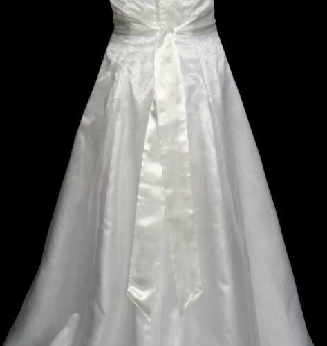 Neuf ivoire satin robe de Mariée Fête Ruban Sash Ceinture Cravate Bande Demoiselle D/'Honneur Bow